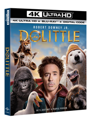 DOLITTLE is Now Available on 4K Ultra HD, Blu-ray, DVD and Digital