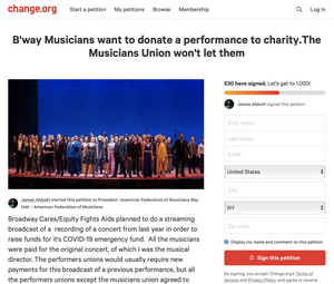 Disney on Broadway Benefit Musicians Release Open Letter; Petition Own Union