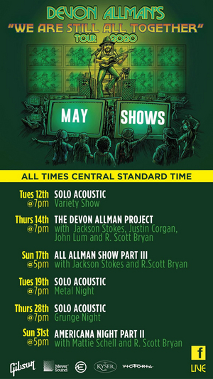 Devon Allman Announces May Schedule for the 'We Are Still All Together' Tour