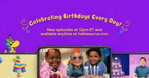 Hellosaurus Launches Interactive 'Birthday Show' for Ages 3-8 Hosted by Tim Kubart