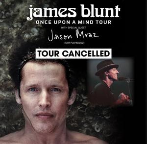 James Blunt with Jason Mraz Australia & New Zealand Tour Cancelled