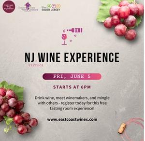 NJ VIRTUAL WINE EXPERIENCE Set for June 5