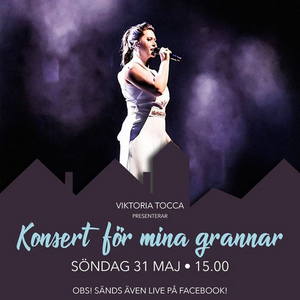 LIVE STREAM CONCERT WITH VIKTORIA TOCCA MAY 31TH AT 15:00 CET at Facebook