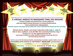 Performing Arts Center of MetroWest Announces Summer Theater Program