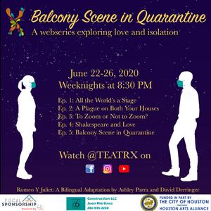 TEATRX to Present Virtual Production of BALCONY SCENE IN QUARANTINE