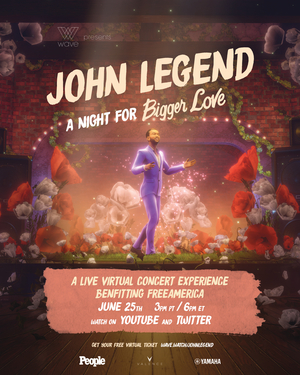 Wave Announces Date of John Legend's First-Ever Virtual Live Concert Event