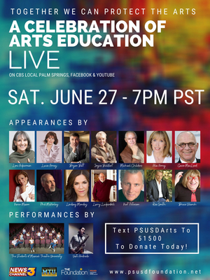 Arnaz, Batt, Mendez, Vilanch And More Appear In TOGETHER WE CAN! Televised Special To Save The Arts In Palm Springs Schools