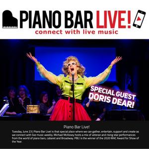 Doris Dear Joins PIANO BAR LIVE! CELEBRATING THE ART OF DRAG