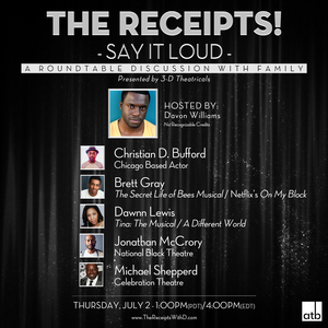 THE RECEIPTS W/ DAVON WILLIAMS Returns Tomorrow With Jonathan McCrory, Brett Gray and More