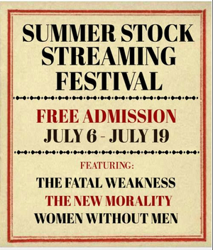 Mint Theater's SUMMER STOCK STREAMING FESTIVAL Begins Today