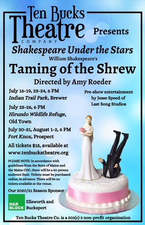 Ten Bucks Theatre Will Present an Outdoor Production of THE TAMING OF THE SHREW