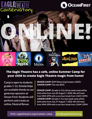 The Eagle Theatre Offers Online Theatre Camp for Young Performers