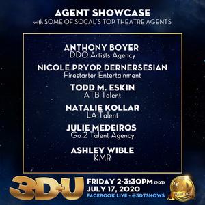 3-D THEATRICALS Announces July 17 3D+U Agent Showcase