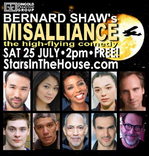 STARS IN THE HOUSE Presents MISALLIANCE Starring Sharon Washington, Thom Sesma and More