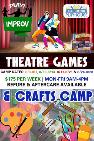 Lake Worth Playhouse Keeps Camp Rolling with Theatre Games and Crafts