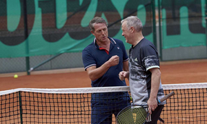 Hugh Grant Won His First Game in the Sweden Open at Båstad