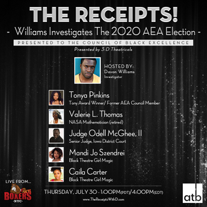 New Episode of THE RECEIPTS W/ DAVON WILLIAMS to Feature Tonya Pinkins and More