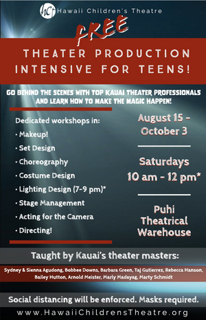 Hawaii Children's Theatre Presents a Free Theater Production Intensive for Teens