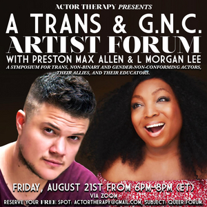 Actor Therapy Announces Trans Community Forum