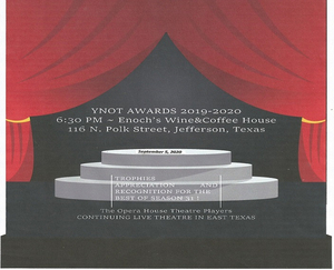 Jefferson Opera House Theatre Players Will Host YNOT Awards on September 5