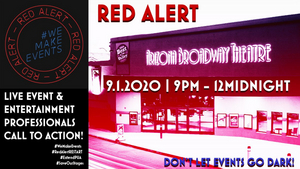 Arizona Broadway Theatre Goes Red as Part of National Call-to-Action to Save the Live Event Industry