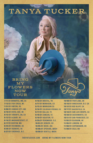 Tanya Tucker Announces 2021 Rescheduled Tour Dates for 'CMT Next Women of Country'