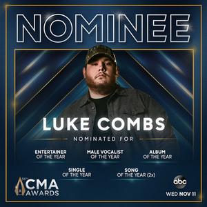 Luke Combs Nominated for Six CMA Awards