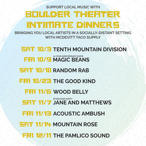 The Boulder Theater Reopens for Series of Socially-Distanced Shows