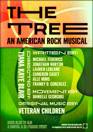 IMPRINT Theatreworks Announces THE TREE - AN AMERICAN ROCK MUSICAL in Collaboration with Shakespeare Dallas