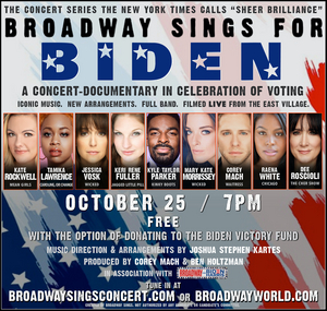 BWW Exclusive: Tamika Lawrence, Kate Rockwell, Jessica Vosk, and More Will Star in Free BROADWAY SINGS FOR BIDEN Fundraiser
