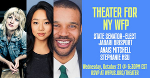 Jabari Brisport to Host THEATER FOR WFP Alongside Anais Mitchell and Stephanie Hsu