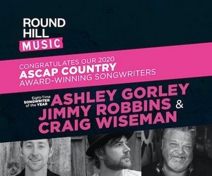 Ashley Gorley Named ASCAP Country Music Songwriter of the Year