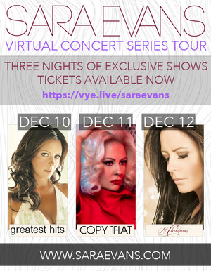Sara Evans Set for 3 Night Unique Virtual Concert Series with VYE