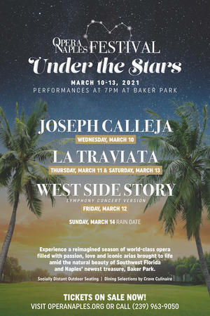 Opera Naples Announces Reimagined Season With Inaugural Festival Under the Stars