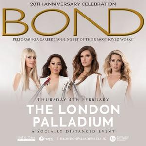 BOND Announce COVID-Safe Show at the London Palladium