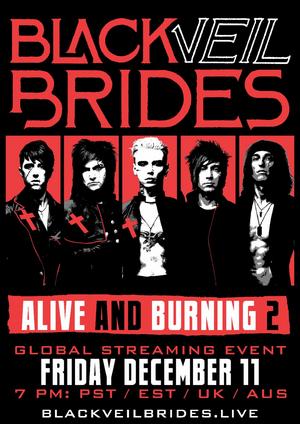 BLACK VEIL BRIDES Announce Global Streaming Event on December 11