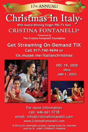 CRISTINA FONTANELLI'S CHRISTMAS IN ITALY Available to Stream Online