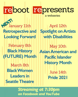 Reboot Theatre Announces 2021 Lineup for Ongoing REBOOT REPRESENTS Web Series