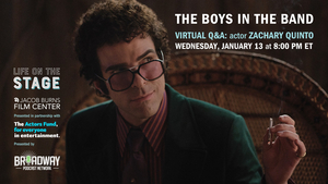 Zachary Quinto to Take Part in THE BOYS IN THE BAND Q&A Tonight