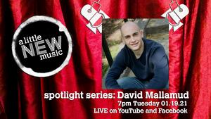 A LITTLE NEW MUSIC's SPOTLIGHT SERIES Presents David Mallamud