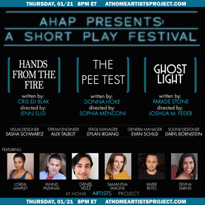 At Home Artists Project Presents A SHORT PLAY FESTIVAL