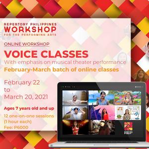 Repertory Philippines Announces Online Voice Classes