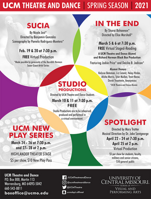 University of Central Missouri Theatre and Dance Announces Spring 2021 Mainstage Season