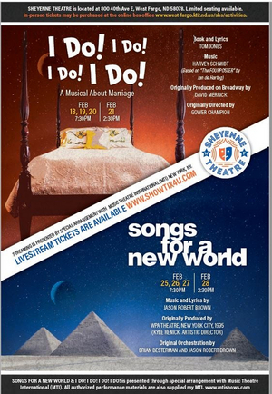Sheyenne Theatre Announces Upcoming Productions - I DO! I DO! I DO! I DO! and SONGS FOR A NEW WORLD