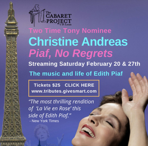 Christine Andreas sings 'Piaf, No Regrets' from the Cabaret Project St. Louis