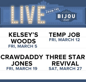 Bijou Theater Announces Live Performance Series, LIVE FROM THE BIJOU