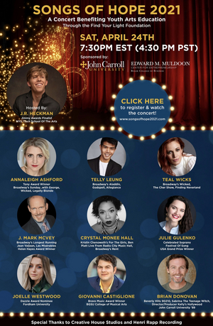 Annaleigh Ashford, Teal Wicks, Telly Leung & More Will Take Part in SONGS OF HOPE 2021