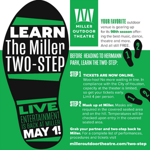 Miller Outdoor Theatre Reopens on May 1