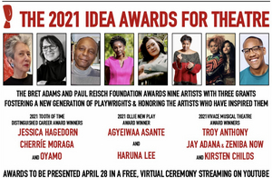 2021 Idea Awards for Theatre to be Presented in Virtual Ceremony on April 28