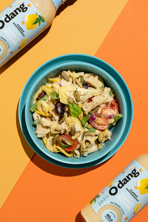 Cooking Time: O'dang Chickpea Based Dressing for Tasty Vegan Pasta Salad